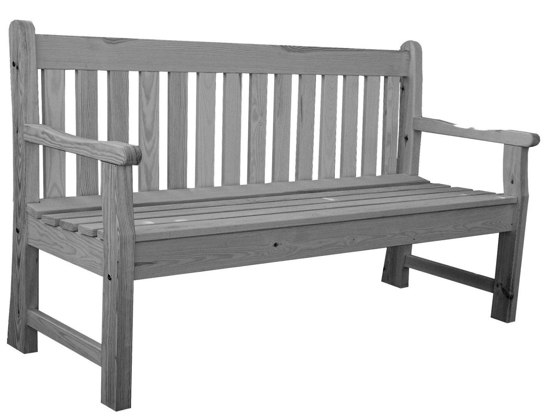 Rojaplast 59 London Holzterrasse Gartenbank Grau 150 X 59