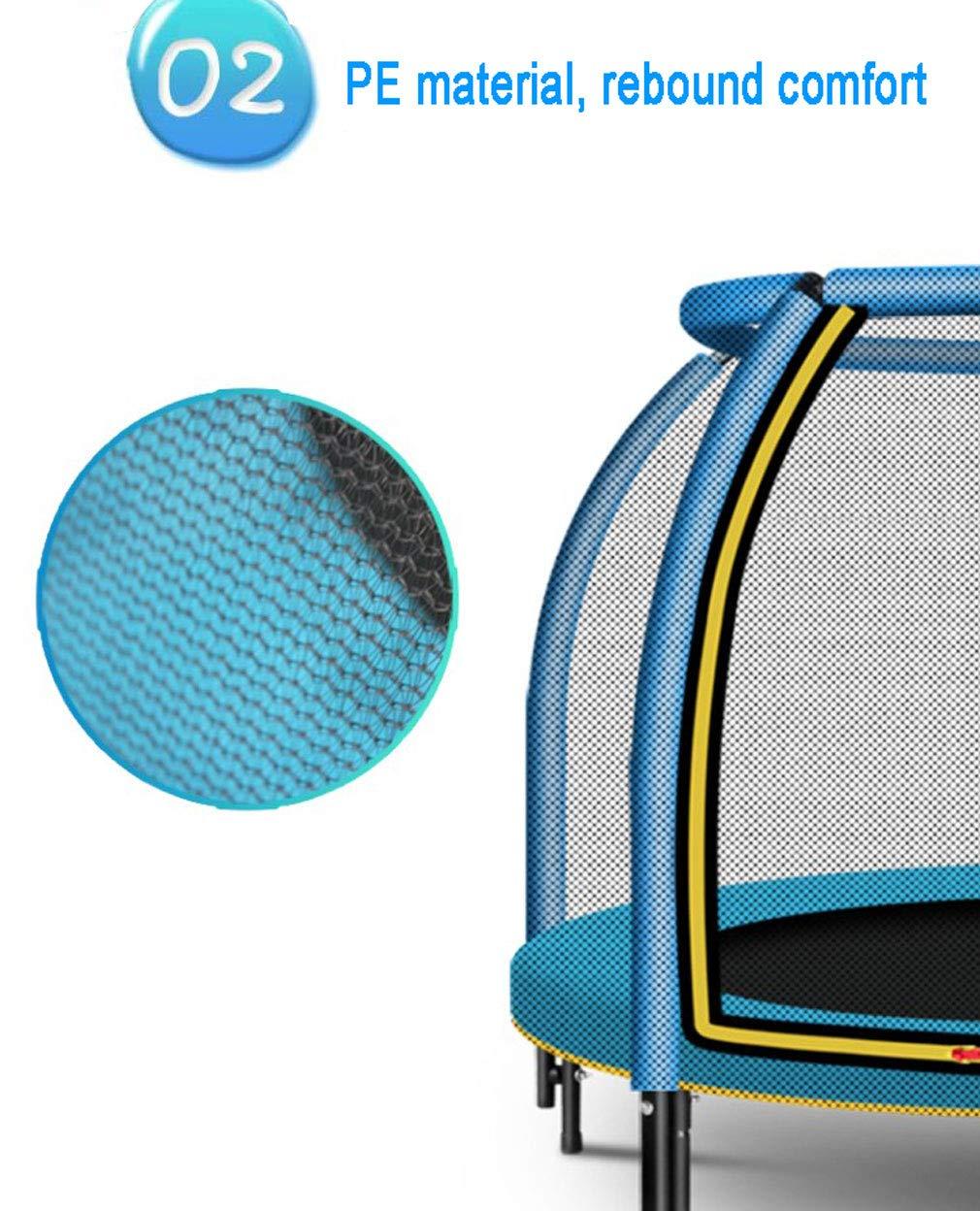 ZHAOJBC Kindertrampolin, Sicherheit Indoor Fitness-Trampolin, Mit Schutznetz, Kindersport 300KG Spielzeug, Standfestigkeit 300KG Kindersport 5e0546