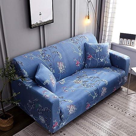 CHYOOO Funda De Sofa Tejido Suave Y Agradable para Azul De ...