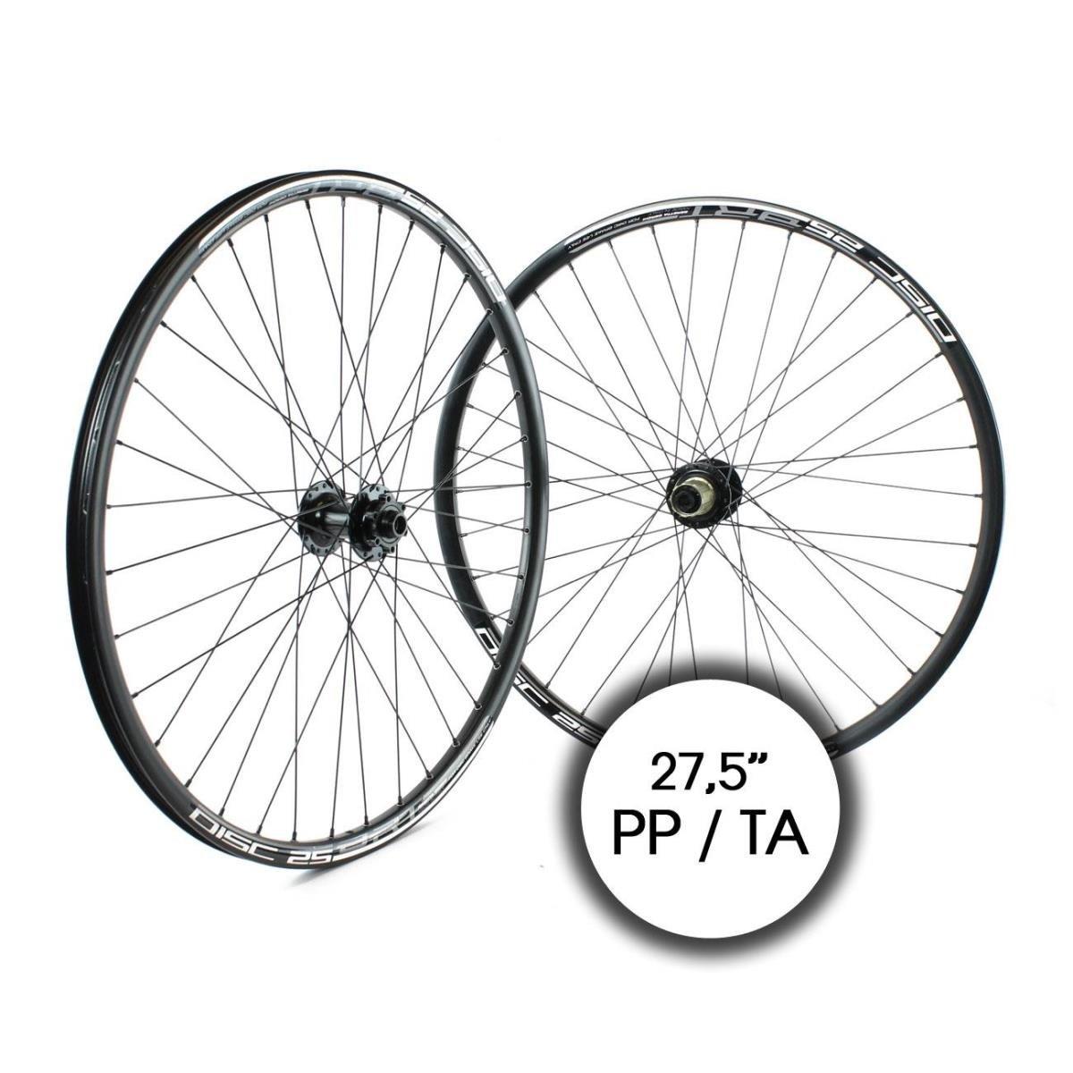 Ridewill Bike Paar Reifen 650B-Gürtelschlaufe 11 V Festplatte schwarz (Paar Räder) Wheelset MTB 650B Thru Axle 11S Disc schwarz (Wheelset)