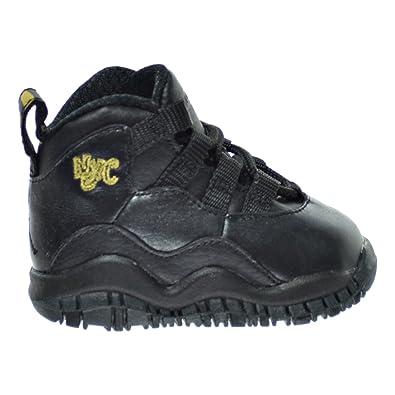 e0a73d705065c2 Jordan 10 Retro BT Toddler s Shoes Black Dark Grey Metallic Gold 310808-012