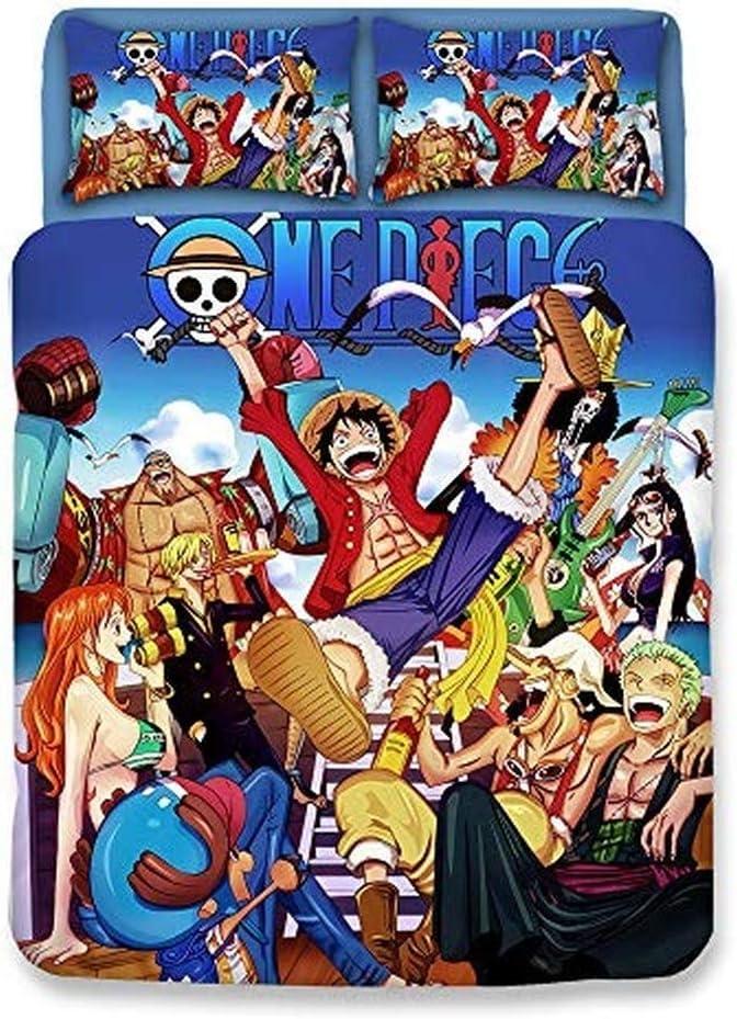 Single 140x210cm XWXBB Niciyo One Piece Parure de lit 3 pi/èces avec Housse de Couette 3D et 2 taies doreiller a01
