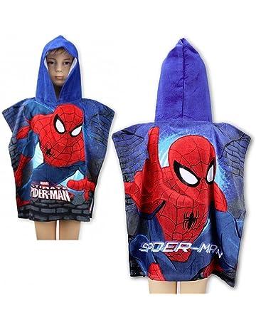 Poncho a capucha/capa de baño Spider-Man * 55 x 110 cm *