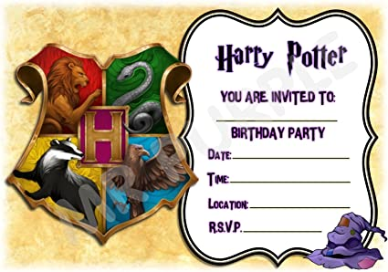 Invitation Fete D Anniversaire Harry Potter Poudlard