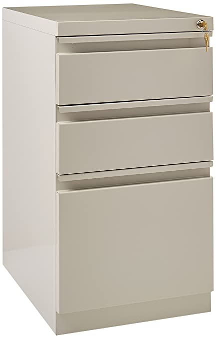 Bon Hirsh 3 Drawer File Cabinet In Light Gray