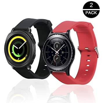 Rukoy Correas para Samsung Gear S2 Classic/Gear Sport Watch [Pack ...