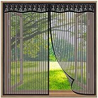 Klamboe voor Ramen,70x200cm Insectenwerende Horren raam,Muggennet met Volledig frame Zelfklevend Tape Venster…