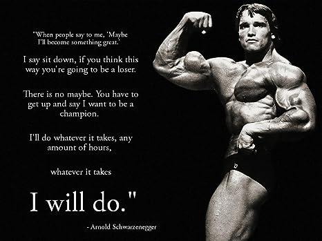 Wuke Arnold Schwarzenegger Inspiration Bodybuilding Poster 17 Inch X 13 Inch