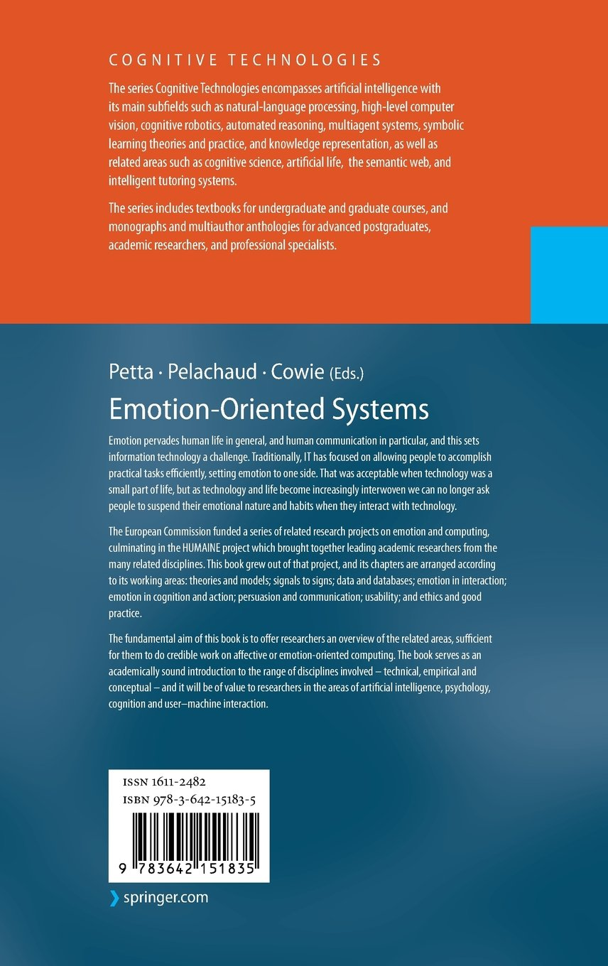 emotion oriented systems the humaine handbook cognitive rh amazon co uk