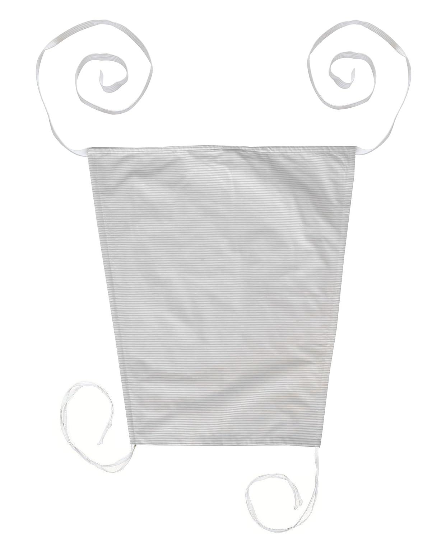 Vizaro - TELO PARASOLE per PASSEGGINO - 100% Cotone - Prodotto in UE con controllo di sostanze nocive - Prodotto SICURO: il neonato lo può succhiare senza rischi - Collezione Linee Grigie