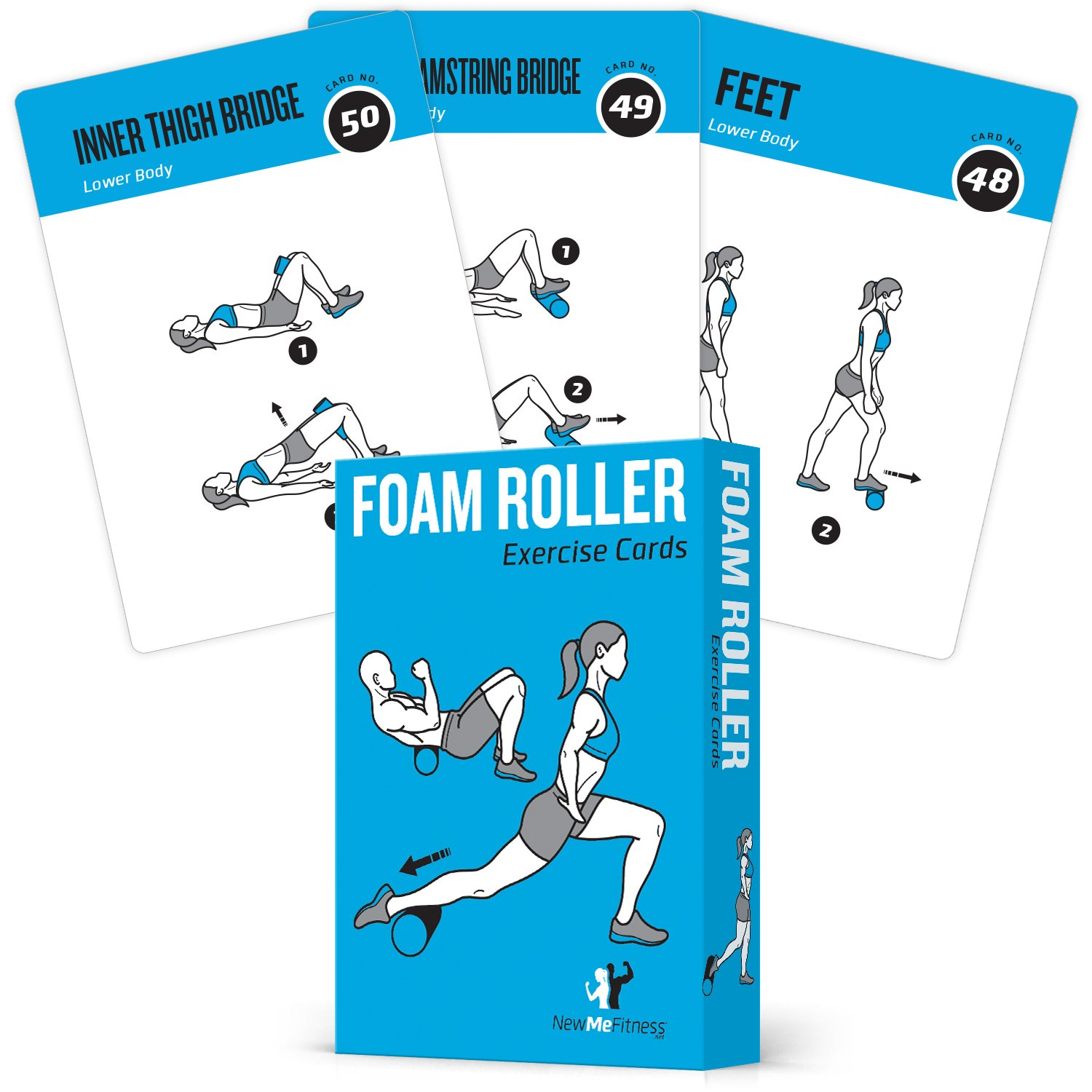 Foam Roller Exercise Cards, Set of 62 – Guided Stretching & Recovery Workout for Home or Gym :: Illustrated Fitness…