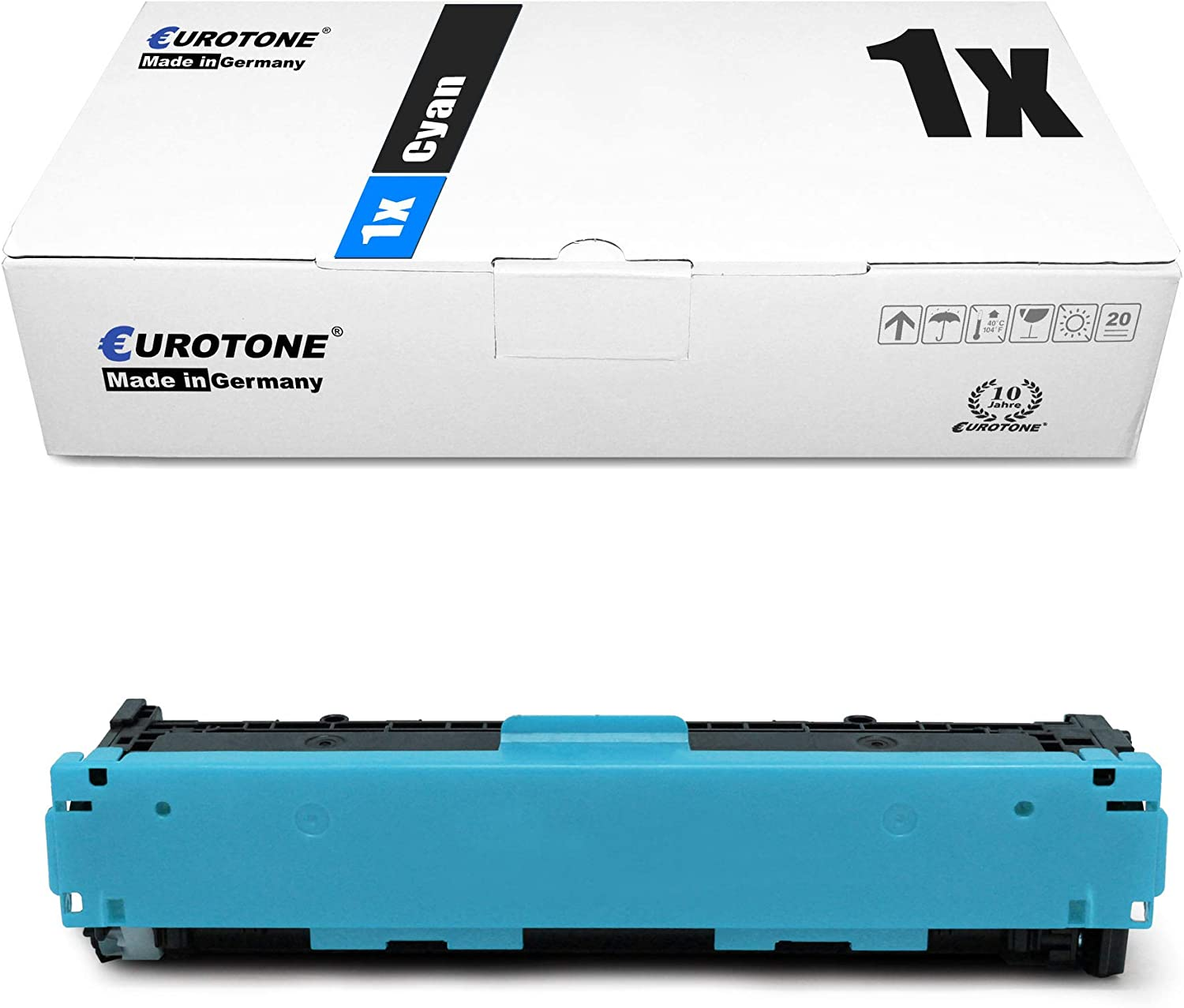 10x Eurotone Remanufactured Toner for HP Color Laserjet Pro M 252 274 dw dn n Replaces CF400A-03A 201A
