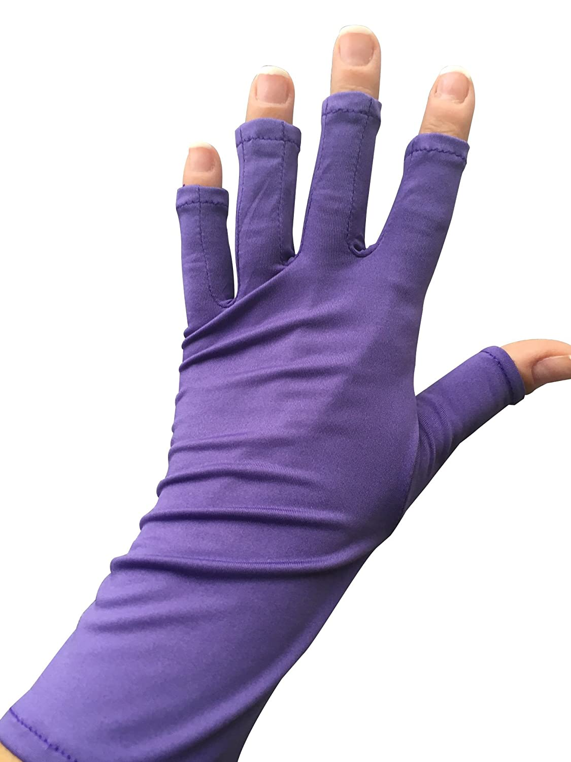 Amazon.com : UV Gloves, Fingerless Protection for Nails Gel Manicure ...