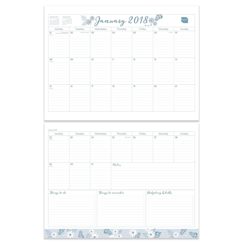 Boxclever Press planificador y calendario para el hogar 2018. Planificador mensual familiar que comienza desde ahora y se extiende hasta diciembre ...
