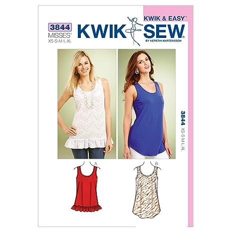 Amazon.com: Kwik Sew K3844 Tops Sewing Pattern, Size XS-S-M-L-XL