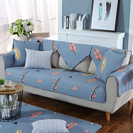 LIUWAN Hoja de Plumas combinación cojín del sofá Cuatro ...