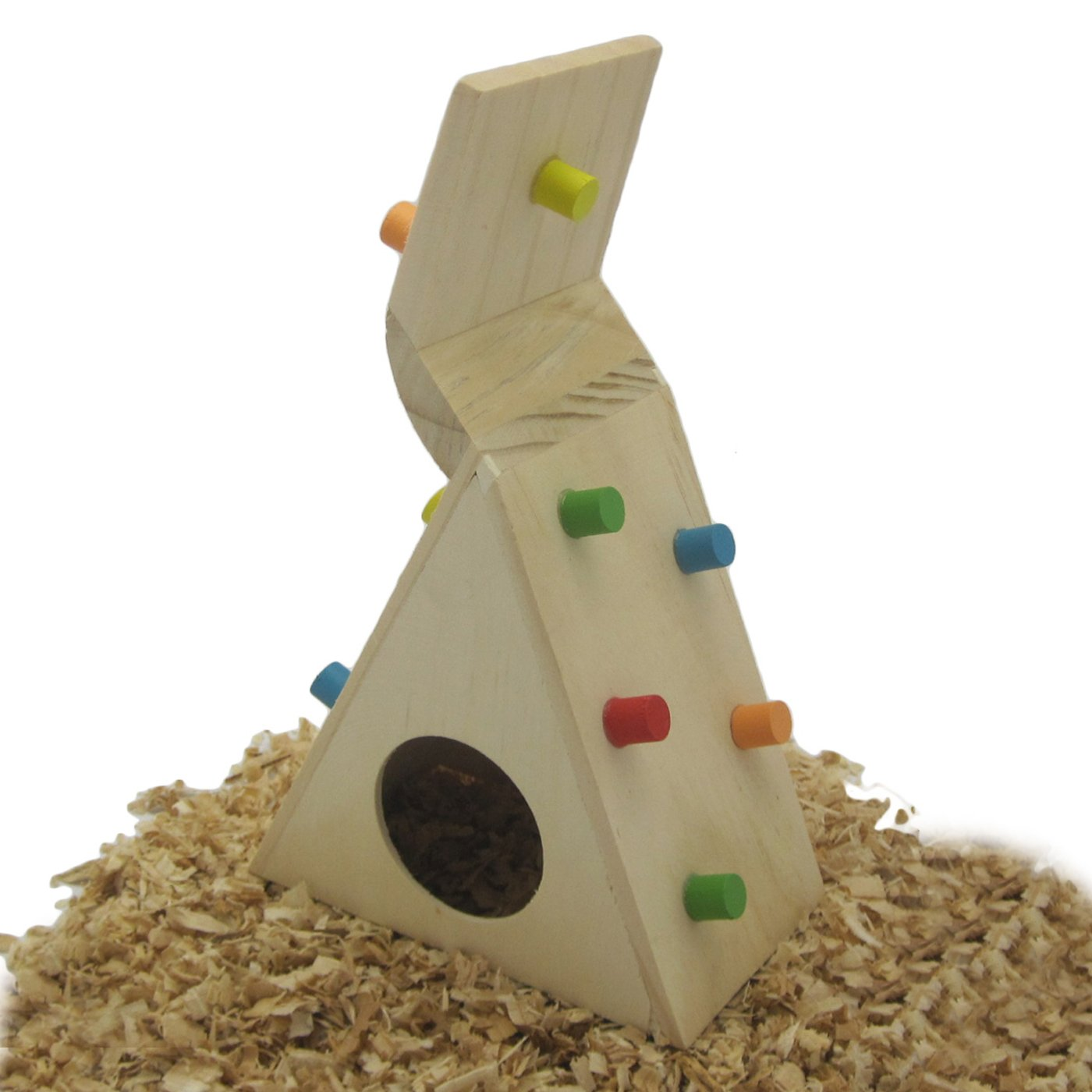 Alfie Pet by Petoga Couture - Small Animal Playground - Jami Wooden Climbing Hideout Toy for Small Animals like Dwarf Hamster and Mouse