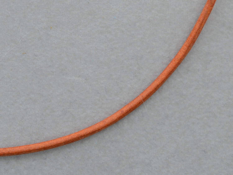 Oranges Lederband 2mm mit 925/- Silber Verschluss