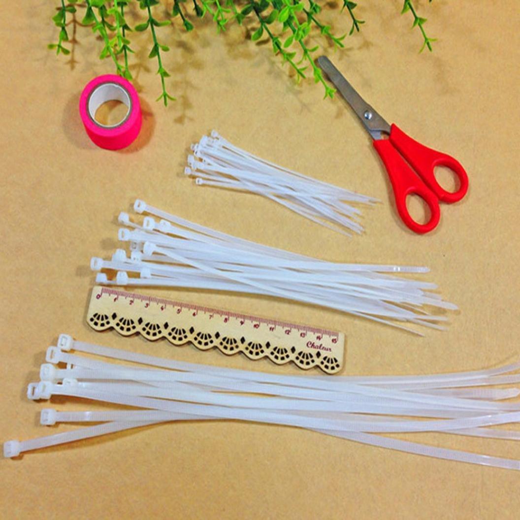 Winkey multicolore 100 150 ou 200 mm r/ésistants aux UV et aux intemp/éries Lot de 100 colliers de serrage en nylon