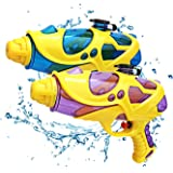 Mioshor Water Soaking Guns 2Pack, Super Soaker Squirt Gun for Kids/Adults,Water Pistol Cannon Pool Toys for Water Blaster Summer Party Games