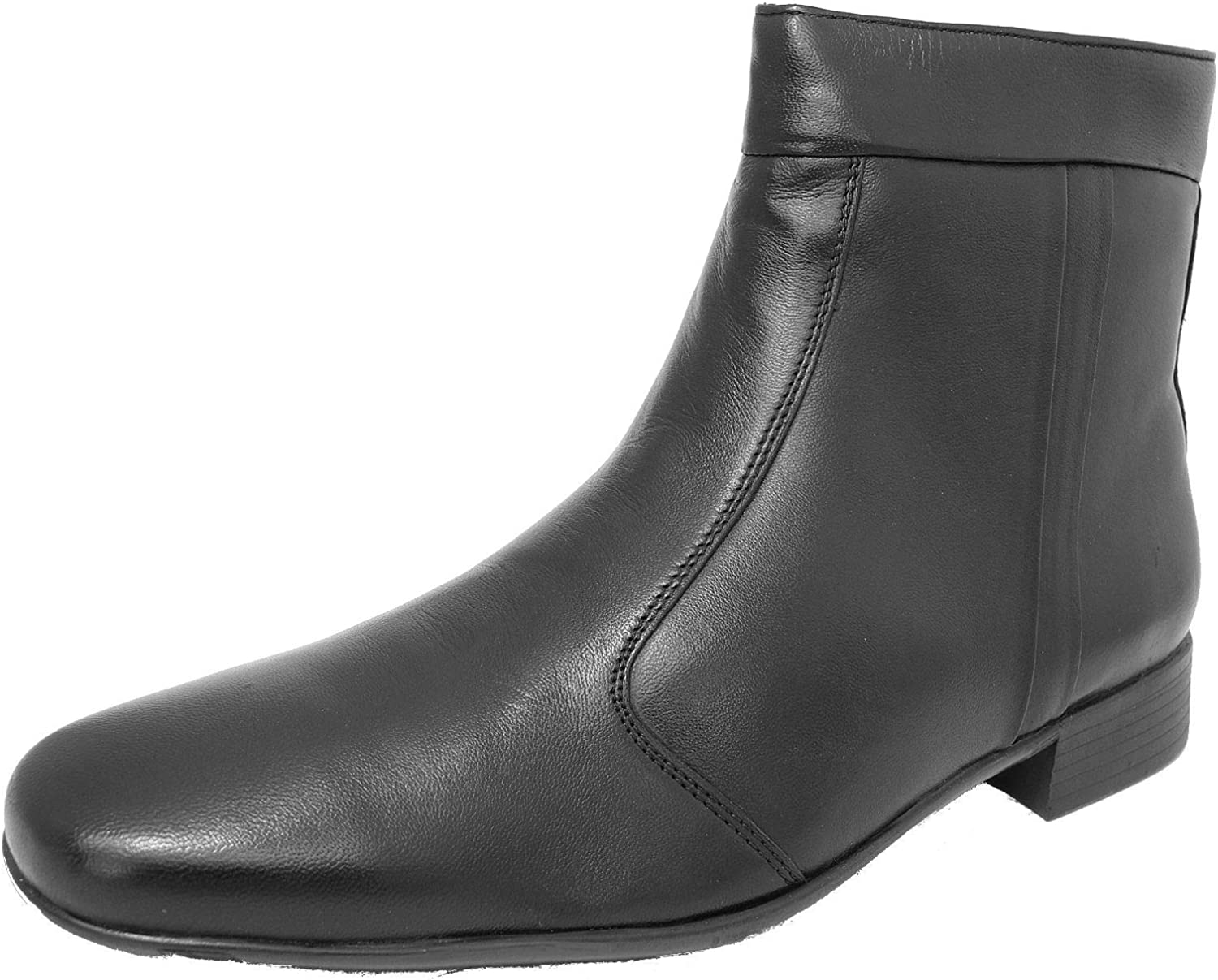 Scimitar Mens Real Leather Zipped