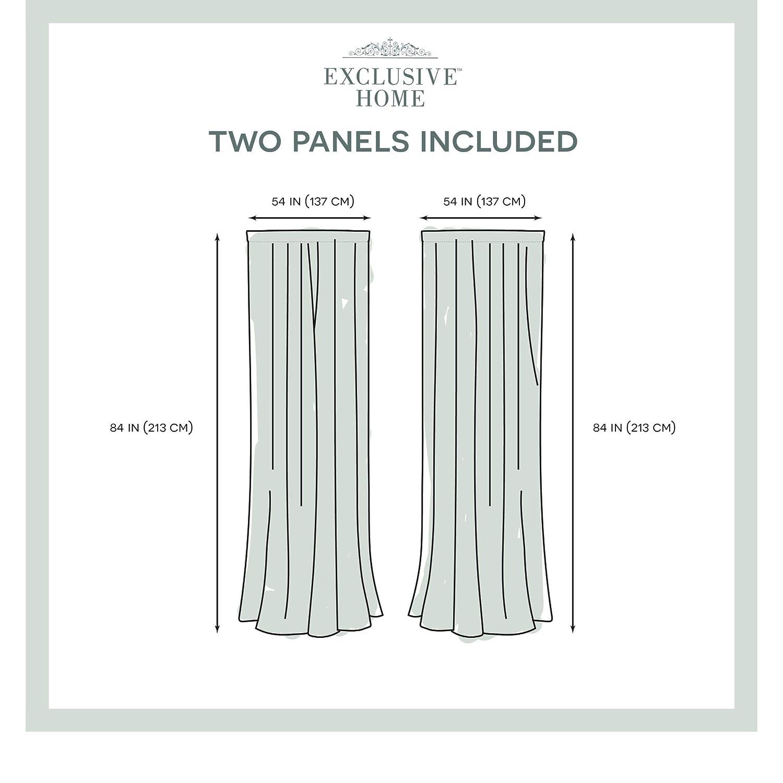 Natural 54x84 2 Piece Exclusive Home Curtains Burlap Rod Pocket Top Panel Pair
