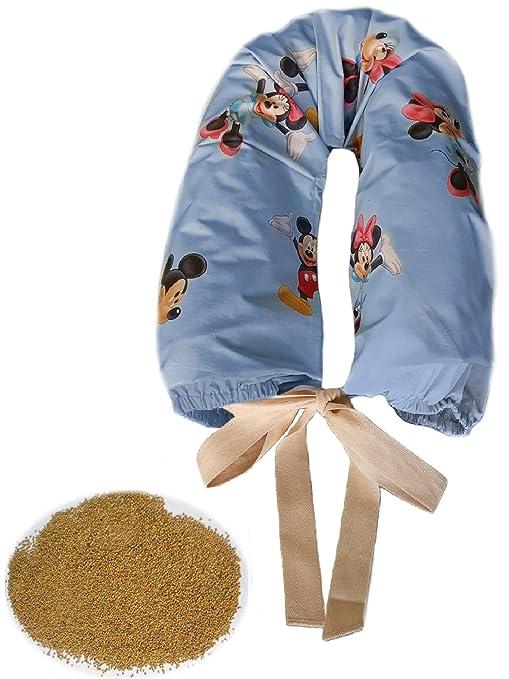 Cuscino Di Miglio Per Neonati.Morbidoso Fantasy Azzurro Cuscino Per Allattamento Neonato E
