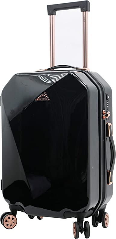 2 PC kensie Gemstone Octagon luggage set Black