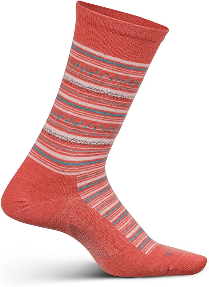 Womens Everyday Performance Dress Sock Be Bold Cushion Crew Feetures