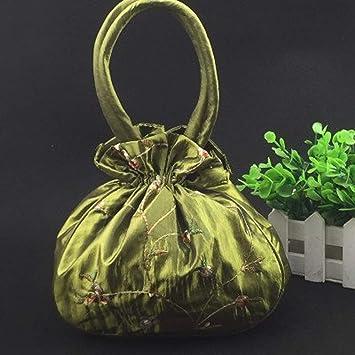Amazon.com: JEWH Bolsas de regalo de Navidad con bordado de ...