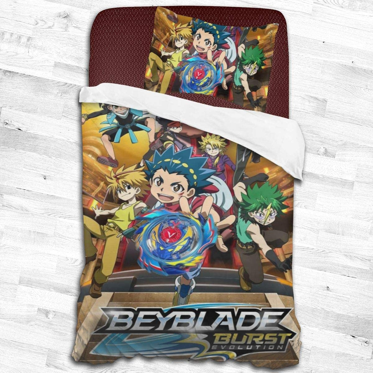 Bey-Blade-Anime Microfiber Printed 2-Piece Bedding Set Bed Sheets Cover Comforter Sets Adults Kids