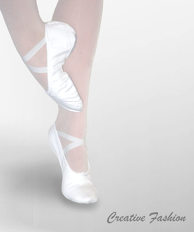 Ballettschläppchen aus Leinen mit geteilter Sohle Classica von Kostov Sportswear