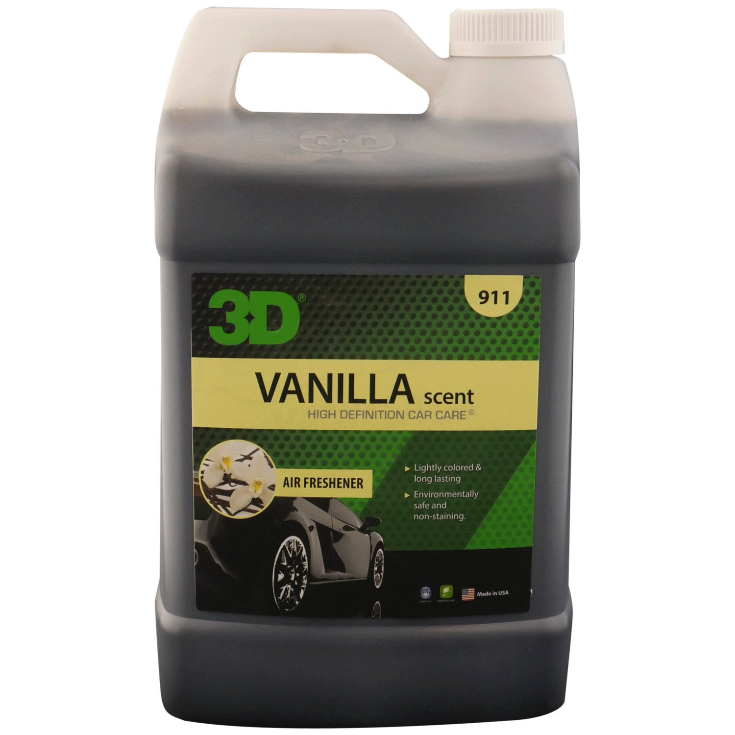 c6ee26b0b94c4 3D Air Freshener Vanilla Scent - 1 Gallon | Water Based Odor Eliminator |  Made in USA | All Natural | No Harmful Chemicals