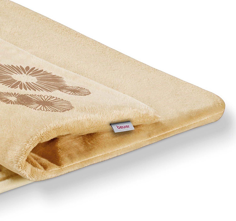 Beurer HK 45 - Almohadilla electrónica de tacto suave, 44 x 33 cm, lavable, forma rectangular, color crema: Amazon.es: Salud y cuidado personal