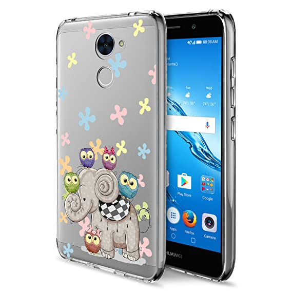 big sale fb162 23605 Huawei Ascend XT2 Phone Case, Huawei Elate 4G LTE Case Floral Elephant Owl,  POKABOO Slim Lightweight Durable Flexible Non-Slip Rubber Phone Case for ...