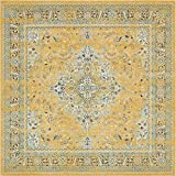 Unique Loom Tradition Collection Classic Southwestern Yellow Square Rug (8' 4 x 8' 4)