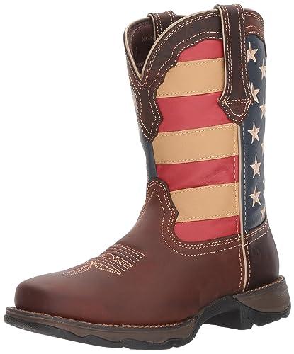 33eaf890fda Durango Lady Rebel Steel Toe Patriotic Flag Work Boot