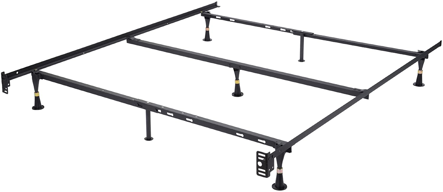 Kings Brand Furniture 7-Leg Heavy Duty Metal Queen Size Bed Frame with Center Support and Glides Only