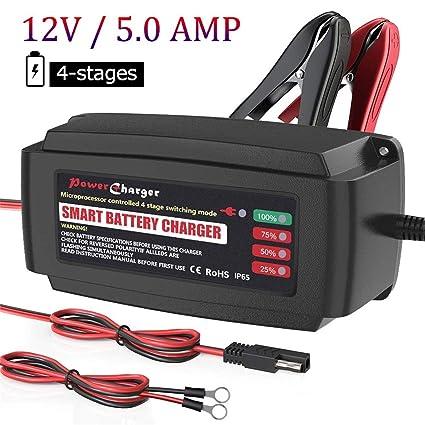 Cargador de batería automático BMK. Mantenedor de cuatro etapas ...