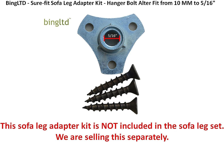 Set of 4 P687-163 4 Walnut Profile Hardwood Sofa Legs BingLTD