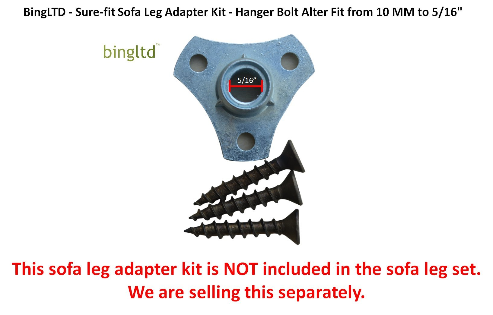 Bingltd'' - ST47-AW Antique White SET of 4 - Hardwood Square Tapered Legs by BingLTD (Image #3)
