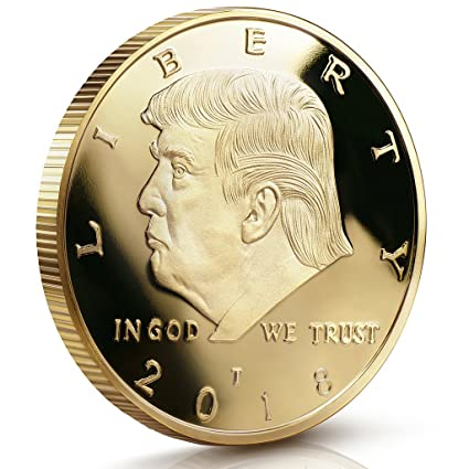 Donald Trump Challenge Coin 2018 - Gold Plated in The Commemorative  Collectors Edition Series  Stunning Proof Like Coins  A Michael Zweig  Designer