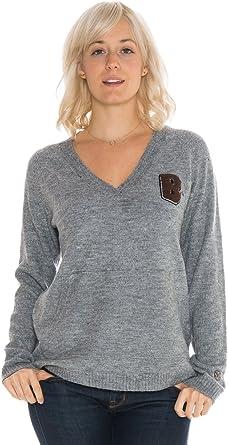 Large NCAA Brown Bears Womens Wool Blend Sweater Grey