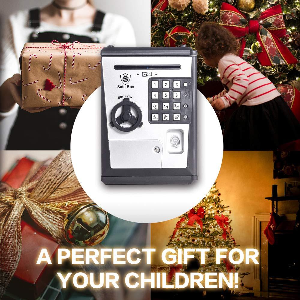 LIKE Toy Piggy Bank Safe Box Fingerprint ATM Bank ATM Machine Money Coin Savings Bank for Kids by LIKE (Image #5)