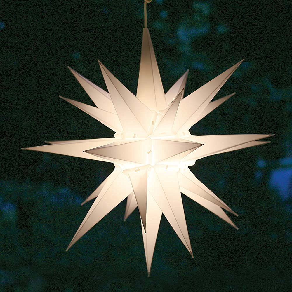 Elf Logic 21 Large White Moravian Star Bright