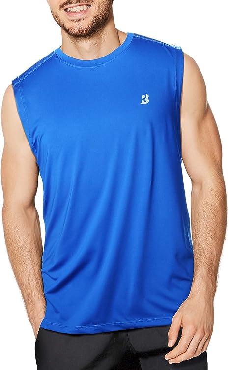 BIG MENS Sleeveless Muscle T-Shirt Cotton Gym Run Basketball 2XL 3XL 4XL NEW