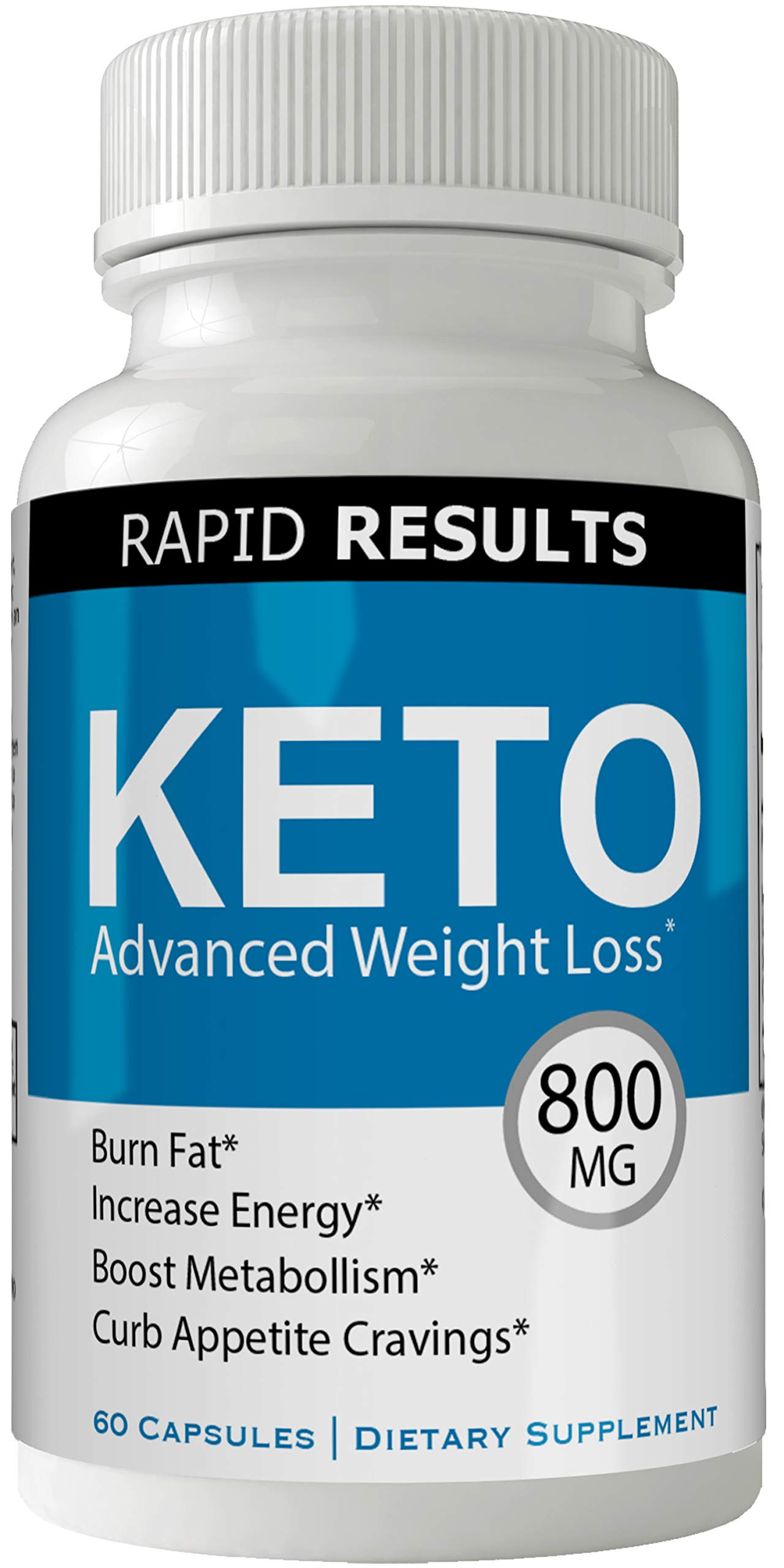 Rapid Results Keto Diet Pills Advanced Weight Loss 800 mg Formula Pills with BHB Salts by nutra4health LLC