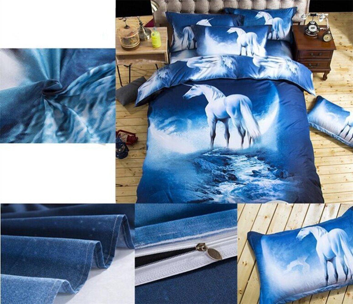 02 zswell 3D Galaxy Bedding Sets 4pcs Mysterious Boundless Galaxy Sky Starry Night Bedding Sets Bedlinen Duvet//Quilt Cover Set