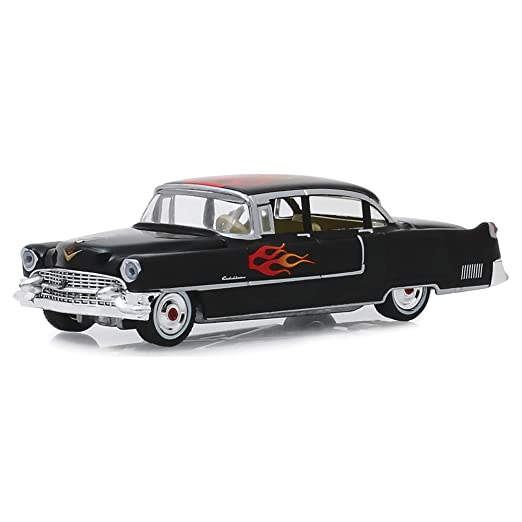 Greenlight 1:64 FLAMES 1955 Cadillac fleetwood Series Green No Box