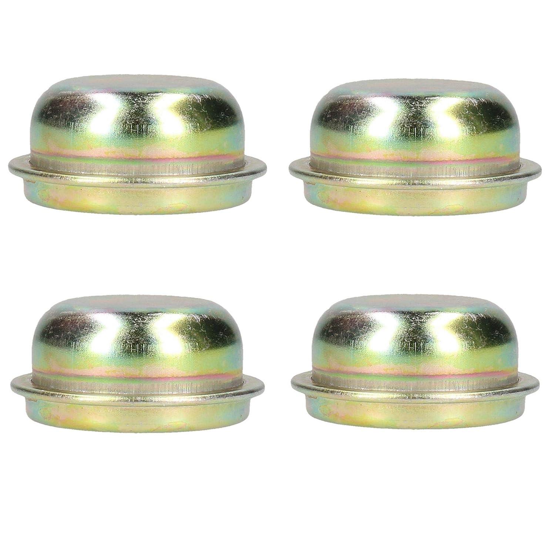 AB Tools-Maypole Replacement 50.5mm Metal Cap Wheel Hub Trailer Bearing Dust Cover 4 PACK